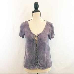 American Eagle lace front top